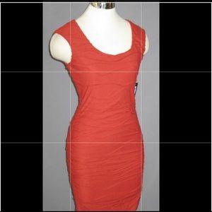 Bebe Dress Dark Orange Size Small BNWT